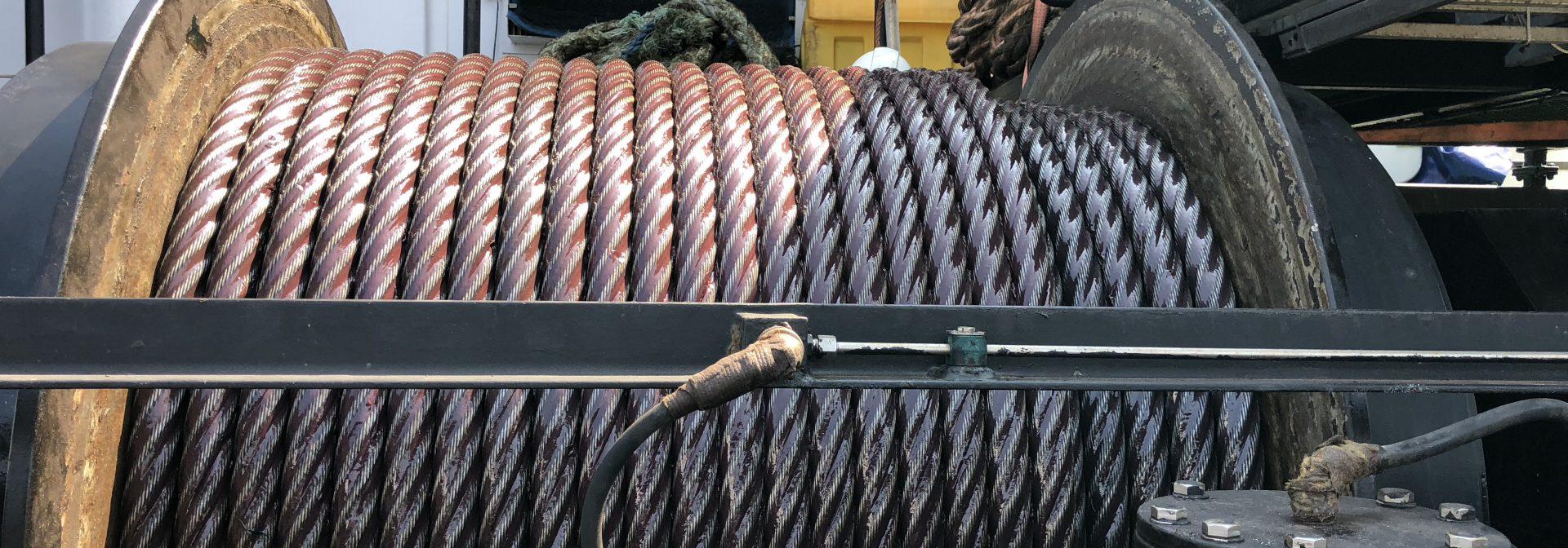 Gesmeerde staalkabel